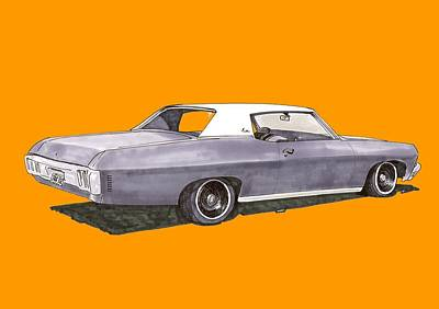 Painting - 1970 Chevrolet Impala by Jack Pumphrey