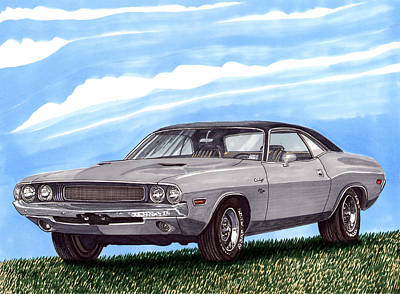 Seventies Painting - 1970 Dodge Challenger by Jack Pumphrey
