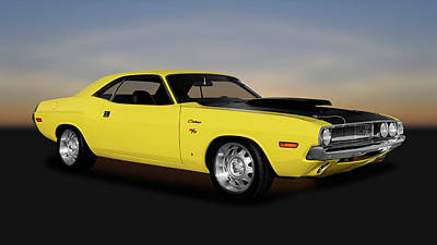 Photograph - 1970 Dodge Challenger R/t 440 Six Pack    -    1970challenger4406pack170213 by Frank J Benz