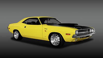 1970 Dodge Challenger R/t 440 Six Pack  -   1970dodgechallenger440fa170213 Art Print