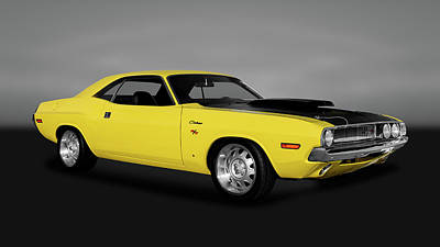 Photograph - 1970 Dodge Challenger R/t 440 Six Pack   -   1970dodgechallengerrtgry170213 by Frank J Benz