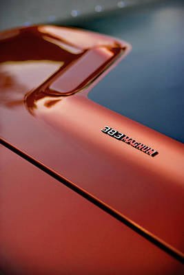 Photograph - 1970 Dodge Challenger Rt 383 Magnum Hood by Gordon Dean II