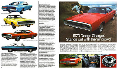 Motown Digital Art - 1970 Dodge Charger by Digital Repro Depot
