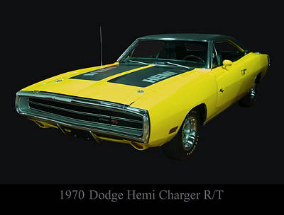 Digital Art - 1970 Dodge Charger Rt by Chris Flees