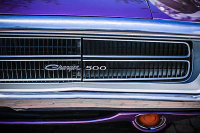 Photograph - 1970 Dodge Charger Taillight Emblem -0299c by Jill Reger