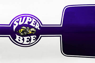 1970 Dodge Super Bee Logo  -  70dodgesblogo9689 Art Print by Frank J Benz