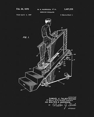 Drawing - 1970 Exercise Machine Patent by Dan Sproul