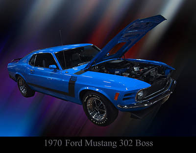 The Boss Digital Art - 1970 Ford Boss 302 Mustang by Chris Flees