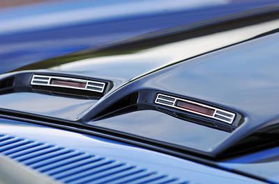Photograph - 1970 Ford Mustang Gt Mach 1 Hood by Jill Reger