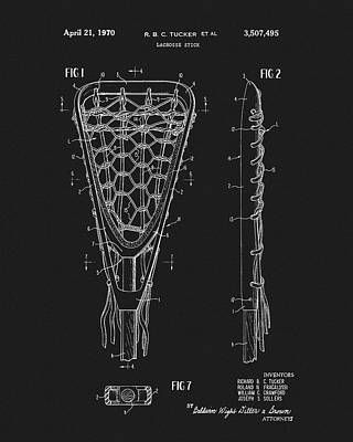 Mixed Media - 1970 Lacrosse Stick Patent by Dan Sproul