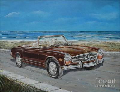 Painting - 1970 Mercedes Benz 280 Sl Pagoda by Sinisa Saratlic