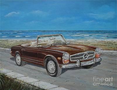 1970 Mercedes Benz 280 Sl Pagoda Art Print