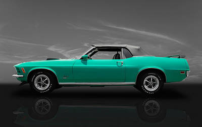 Photograph - 1970 Mustang 351 Convertible by Frank J Benz
