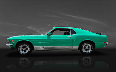 Photograph - 1970 Mustang Cobra Jet by Frank J Benz