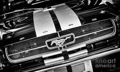 Photograph - 1970 Mustang Monochrome by Tim Gainey