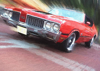 Digital Art - 1970 Oldsmobile 442 by Ron Grafe