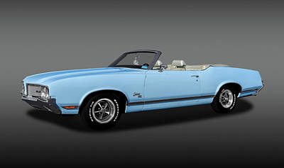 Photograph - 1970 Oldsmobile Cutlass Sx 455 Convertible  -   1970cutlass455sxcvfa170496 by Frank J Benz