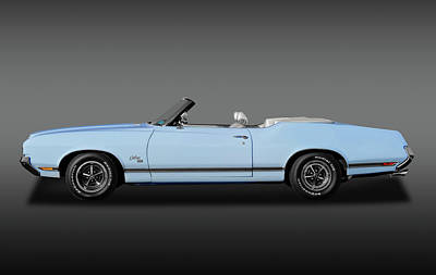 Photograph - 1970 Oldsmobile Cutlass Sx 455 Convertible  -  1970oldsconvertiblesx455fa172123 by Frank J Benz