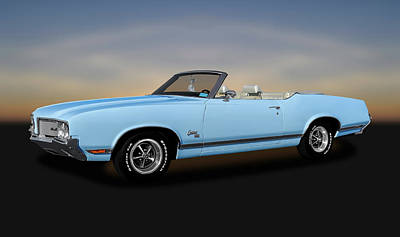 Photograph - 1970 Oldsmobile Cutlass Sx 455 Convertible   -   1970oldscutlass455sx170496 by Frank J Benz