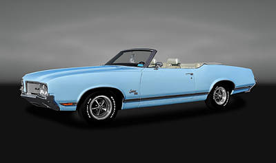 Photograph - 1970 Oldsmobile Cutlass Sx 455 Convertible   -   1970oldscutlasscv455sxgry170496 by Frank J Benz