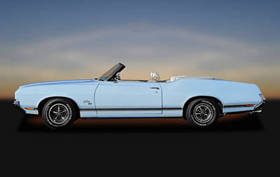 Photograph - 1970 Oldsmobile Cutlass Sx 455 Convertible  -  1970oldssx455convertible172123 by Frank J Benz