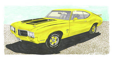 Other Painting - 1970 Oldsmobile Ralley 350 by Jack Pumphrey