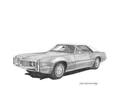Painting - 1970 Oldsmobile Tornado  by Jack Pumphrey