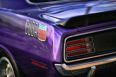 1970 Plymouth Aar Cuda Plum Crazy Purple Art Print by Gordon Dean II