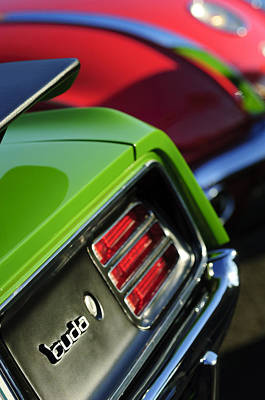 Plymouth Cuda Photograph - 1970 Plymouth Barracuda Cuda Taillight Emblem by Jill Reger
