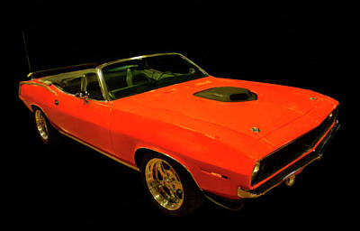 Painting - 1970 Plymouth Hemi Cuda Convertible Digital Oil by Chris Flees
