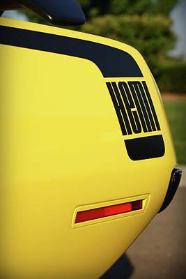 1970 Plymouth Hemi Cuda Drivers Rear Hockey Stripe Original by Gordon Dean II