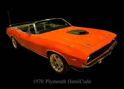 Digital Art - 1970 Plymouth Hemicuda Convertible by Chris Flees