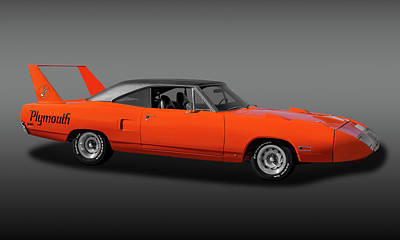 Photograph - 1970 Plymouth Road Runner Superbird  -  1970plyrrsuperbirdfa170528 by Frank J Benz