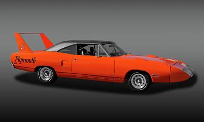 Photograph - 1970 Plymouth Road Runner Superbird  -  1970plyrrsuperbirdfa170528 by Frank J Benz