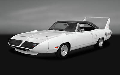 Photograph - 1970 Plymouth Road Runner Superbird  -  1970rrsbirdgry170242 by Frank J Benz