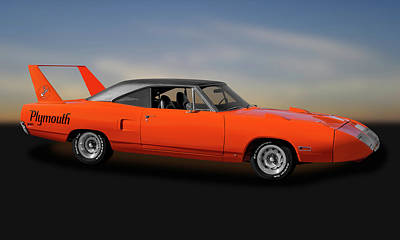 Photograph - 1970 Plymouth Road Runner Superbird  -  1970superbird170528 by Frank J Benz