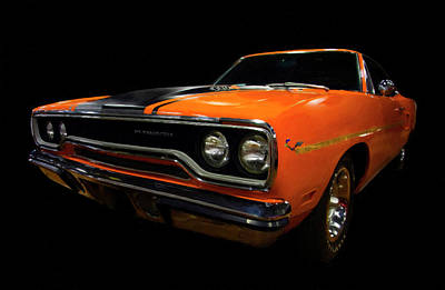 Painting - 1970 Plymouth Roadrunner 440 Six Pack Diagital Art by Chris Flees