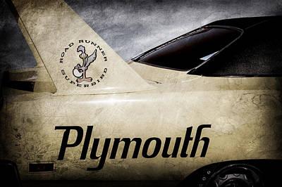 Plymouth Photograph - 1970 Plymouth Superbird Emblem -0520ac by Jill Reger