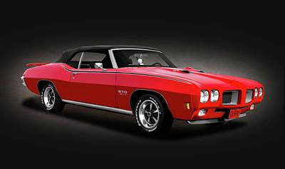 Photograph - 1970 Pontiac Gto Convertible  -  1970pontiacgtocvspottext156121 by Frank J Benz