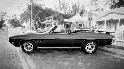 Photograph - 1970 Pontiac Gto Ram Air Convertible Bw by Rich Franco