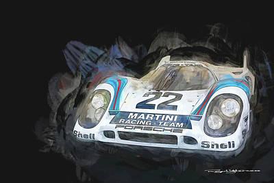 Digital Art - 1970 Porsche 917k by Roger Lighterness