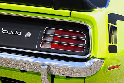 Barracuda Photograph - 1970 Sublime Green Hemi 'cuda  by Gordon Dean II