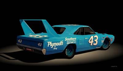 Digital Art - 1970 Superbird Richard Petty by John Wills