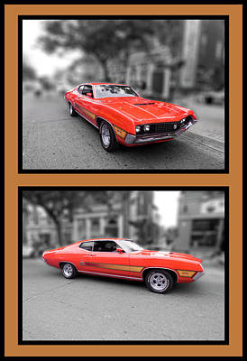 Photograph - 1970 Torino Gt Vertical by Leslie Montgomery
