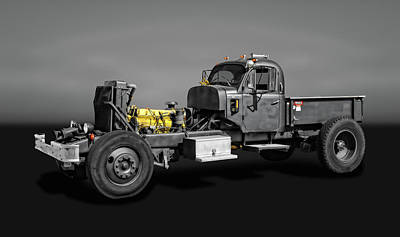 Photograph - 1970 White Truck Rat Rod  -  1970whiteratrodgry9981 by Frank J Benz