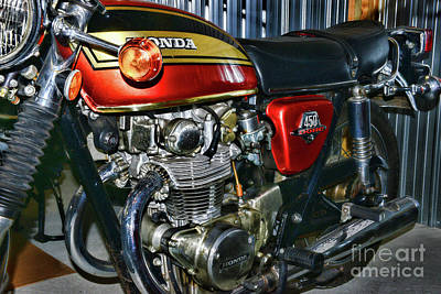 Photograph - 1970s Classic Honda Motorcycle by Paul Ward