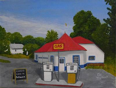 Wall Art - Painting - 1970s Gas Station by Lisa MacDonald