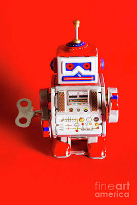 Circuit Photograph - 1970s Wind Up Dancing Robot by Jorgo Photography - Wall Art Gallery
