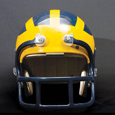 Photograph - 1970s Wolverine Helmet by Michigan Helmet