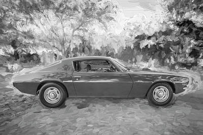 Photograph - 1971 Chevrolet Camaro Bw C127 by Rich Franco
